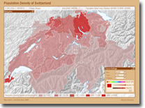 Population Density of Switzerland
